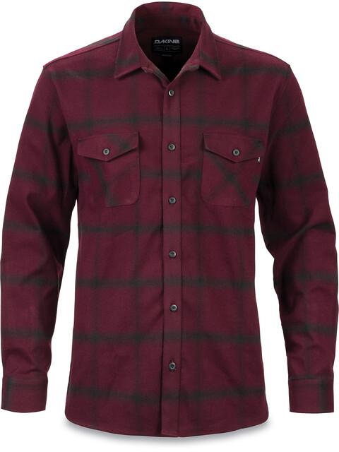 Dakine Underwood Flannel Button Shirt Men Plum Shadow